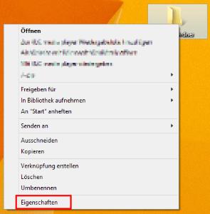 Datei > Eigenschaften (Kontextmenü)