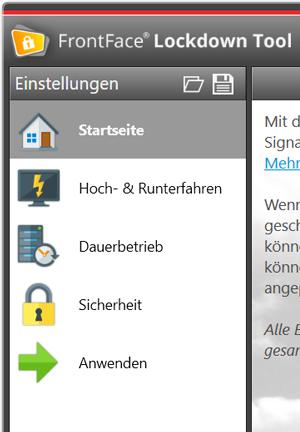 FrontFace Lockdown Tool für Windows | mirabyte